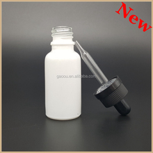 Small bottles for cosmetic essence packaging 10ml frosted clear glass bottle