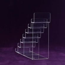 Wholesale clear acrylic 7-layer wallet display stand