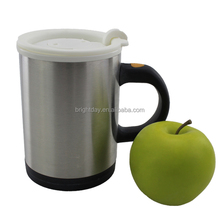2015 funny ceramic mug cup stainless steel & ceramic mug with slicone cover
