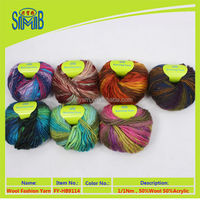 new product from China factory wholesale 50% wool 50% acrylic bigbelly yarn for knitting wool blended slub yarn