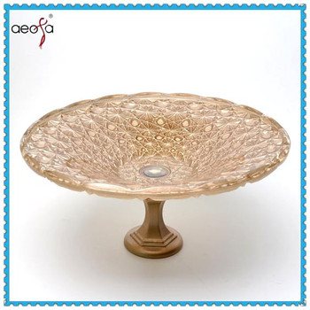glass plate with stand decorative large glass plates