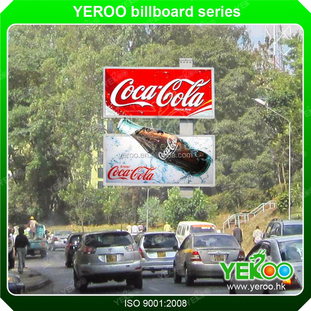 billboard advertising Steel Pole Lighting Hoarding Bill Board custom shipping boxes