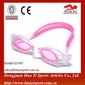 Pvc gasket wide one piece design easy adjustable swimming goggles