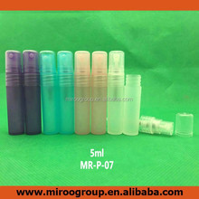 cute 5ml handling pen type musk perfume spray bottle , dull polish PP pen type perfume spray