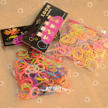 DIY wholesale 2014 cheap colorful crazy loom bands elastic bands