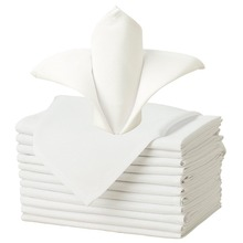 100% cotton Table linen Napkin Cheap Table Napkins Satin Band