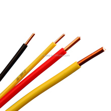 Low Voltage 300/500V 450/750V, Single core, Solid strand copper conductor, PVC coated copper wire
