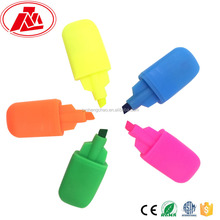 multi colored mini highlighter pen