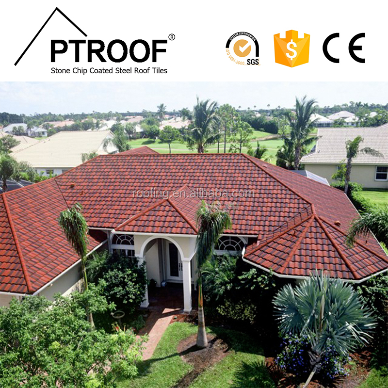"48"" X 14.5"" anti-rusting Stone zinc Coated Steel Roofing Tile Mix color roman polymer sand roof tile zimbabwe"