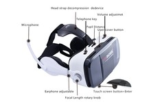 New VR BOSS 3D Glasses Virtual Reality VR Headset + Microphone Google Cardboard FOV 120