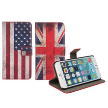 Top 1 sale,phone cases Flag Design leather case for iphone6,for apple i phone6 case