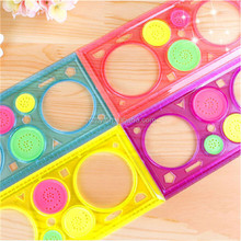 Variety Spirograph Drawing Plastic Ruler Color Random Color
