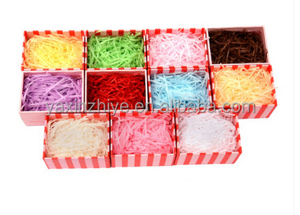 custom beautiful color paper raffia wire for gift box packing