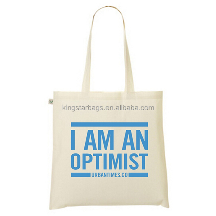 I am an optimist Custom Made Cotton Shopper Bag