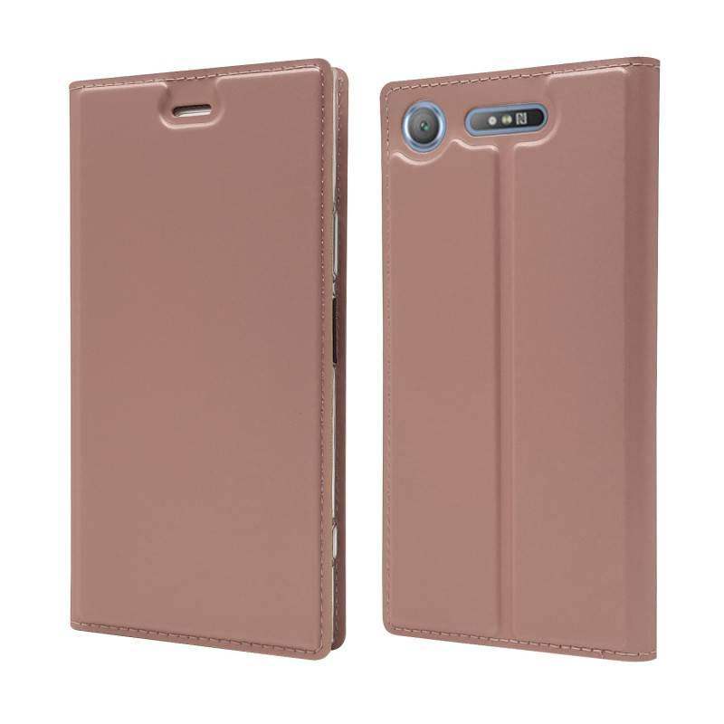Free Samples Magnetic Leather Book Style Flip Phone Cover For Sony Xperia XZ1 Mobile Accessories