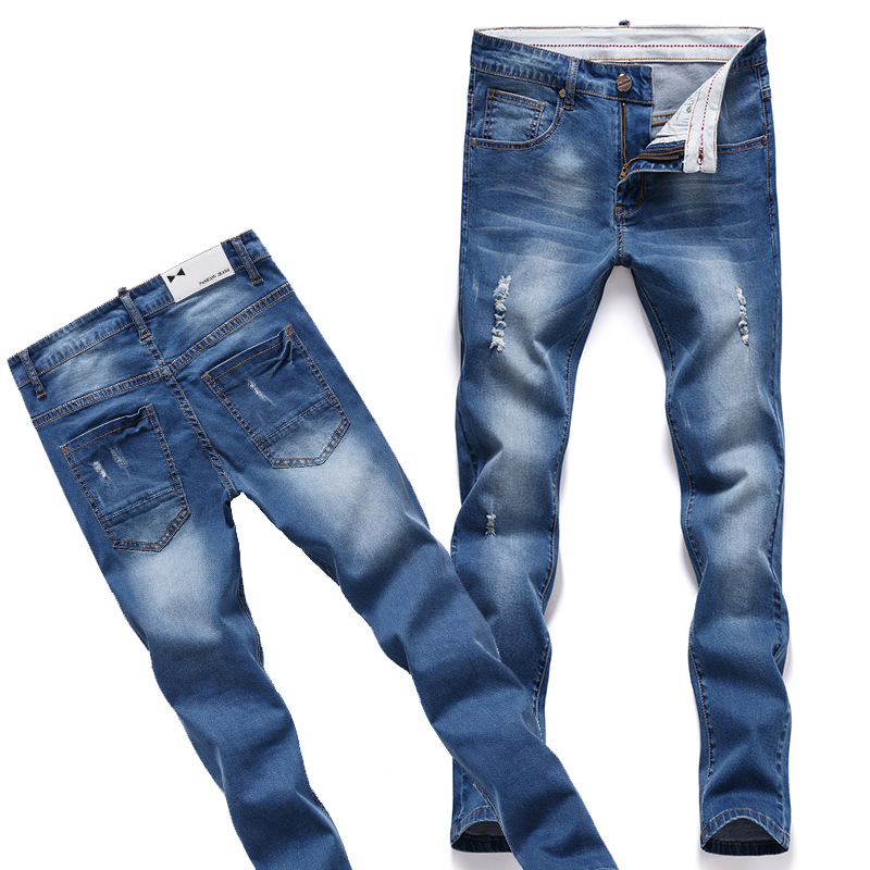 male slim Designer fit jeans ripped jeans men Robin Jeans Denim True Religious Jeans Skinny  Plus Size Bell Bottom pants