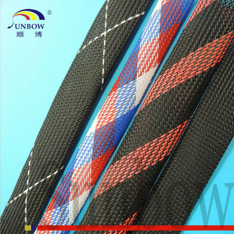Flexible Antiwear Flame Retardant Insulation Expandable Mesh Tubing