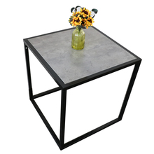 Eco-friendly European Metal Legs Wooden Top Small Tea Table