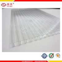 6mm&8mm&10mm twin wall polycarbonate plastic smoked roofing sheets