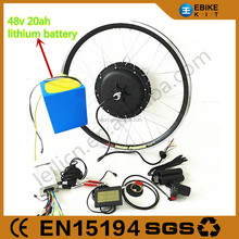 48V 1500W e bike electric bicycle motor conversion kit with 48V 20Ah lithium battery wholesales