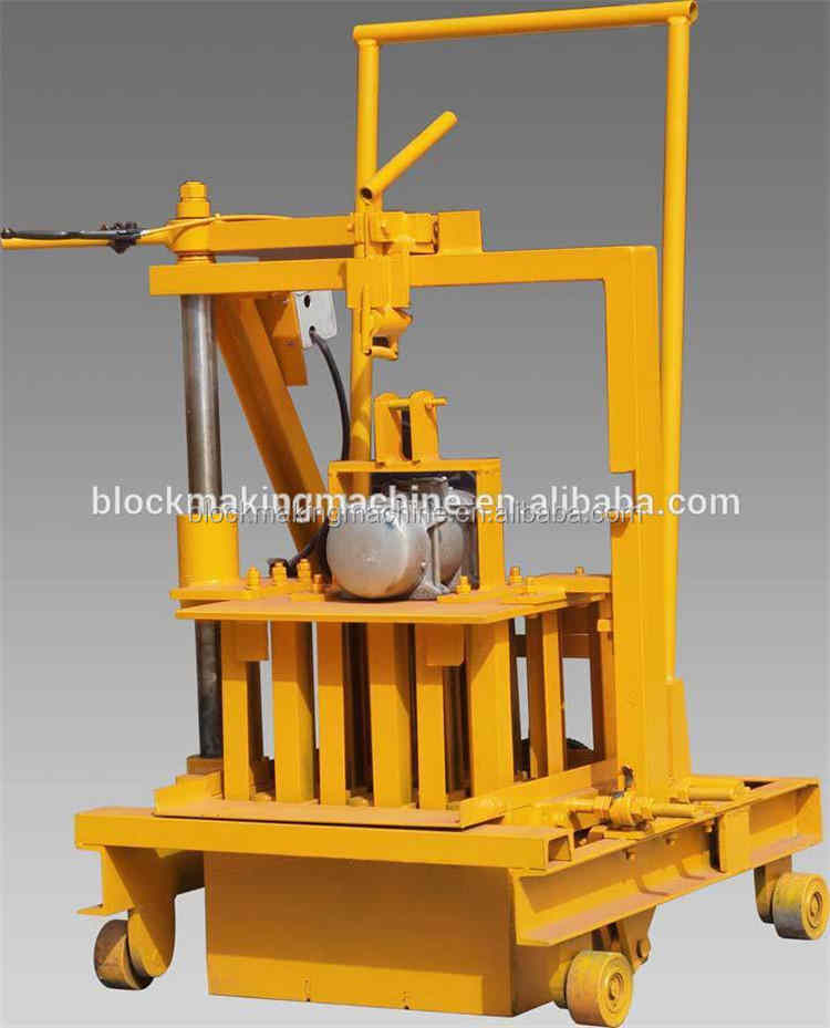 Small Factory concrete block brick Machine QMR2-45 movable mobile Small Industries hollow block Making Machine Hot For Sale