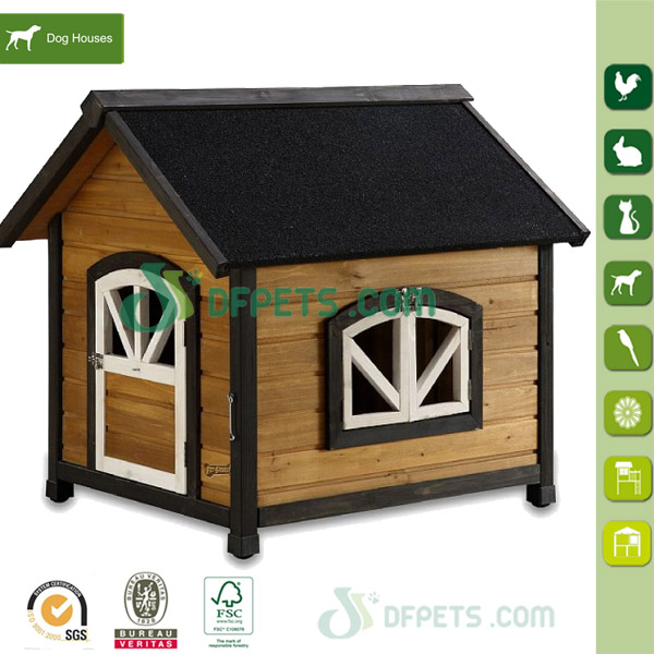 New design outdoor large wooden pet house dog kennel