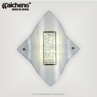 Glass crystal led wall light for corridor