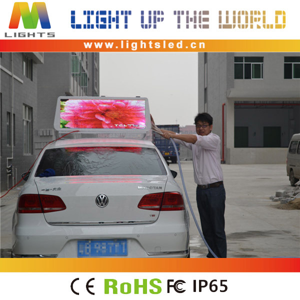 LightS high resolution led taxi top advertising led display red/green/yellow