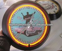 Wall Double Neon Tube Clock OEM