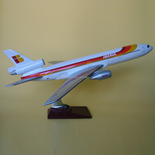 Custom Iberia DC10 3 scale 1:120 resin toy plane,scale model airplane,aircraft toy model