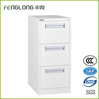 power coated steel 3 drawer storage filing cabinet locker for office