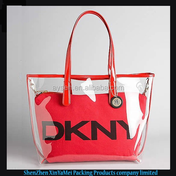 fashion transparent pvc beach bag