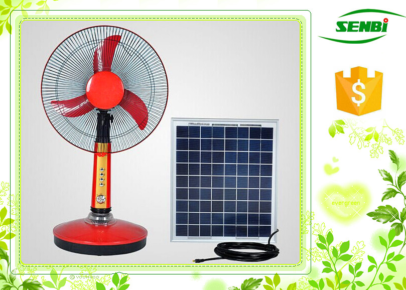 16 inch solar rechargeable energy battery table fan ac dc for 12v dc table fan price