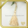Wholesale gold beaded tassel and fringe for shoes bags carpet FT-030