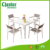 Modern design white powder coated aluminum plastic wood garden table sets outdoor ,patio dining sets,garden table and chairs set