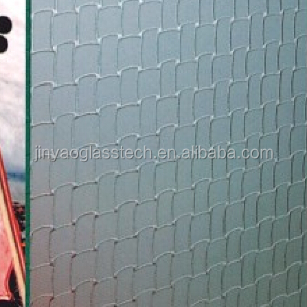 Beijing manufacture 4mm clear color 1900*2200mm ribbed glass pattern glass