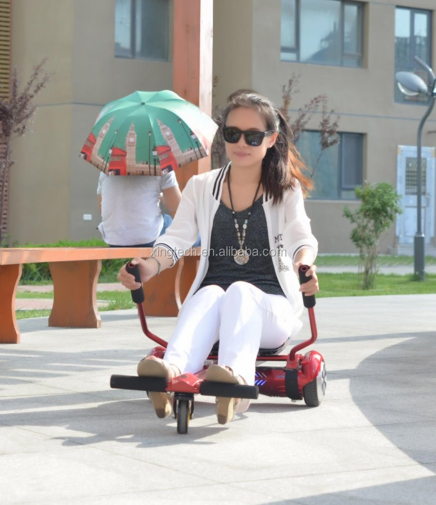 Aluminium alloy elastic hoverboard cart with chair flex hoverboard bracket made in China