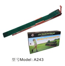 Factory custom golf putting mat with annatto pedestal +Auto return golf track +poles for putter, custom golf accessory A243