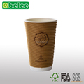 Disposable heat isolation paper cup double wall coffee cup