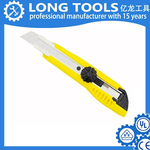 3 pcs Cutter knife with 18mm blade, hot knife cutter covered plastic rubber, safety cutter knife