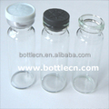vials glass with rubber stopper cap