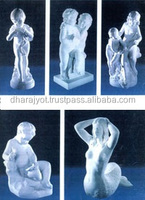 marble carved children statues