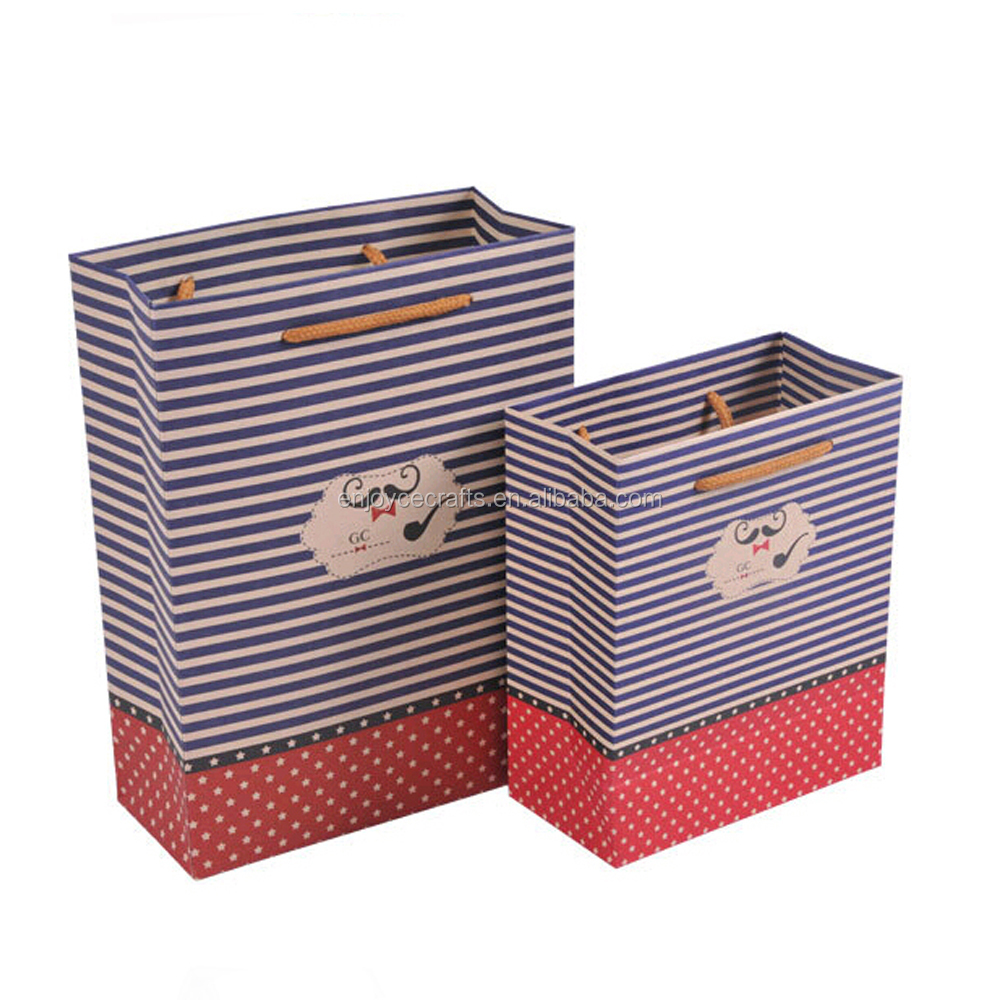new design gift use paper material eco printed christmas paper carrier bag