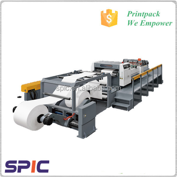 Automatic High Speed Jumbo paper roll sheet cutter