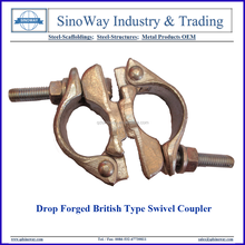 British Type Drop Forged Swivel Couplers Scaffolding Clamps