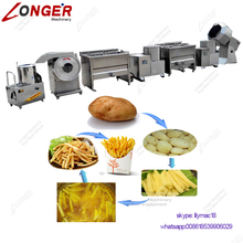 Factory Price Semi Automatic Potato Finger French Fries Production Line Potato Chips Making Machine How To Make Frozen Chips