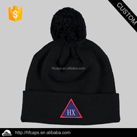 2015 winter warm custom ski knit 100% acrylic jacquard beanie / beanie with pom pom