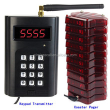 coaster pager system restaurant table paging watch wireless remote control call bell system waiter call pager