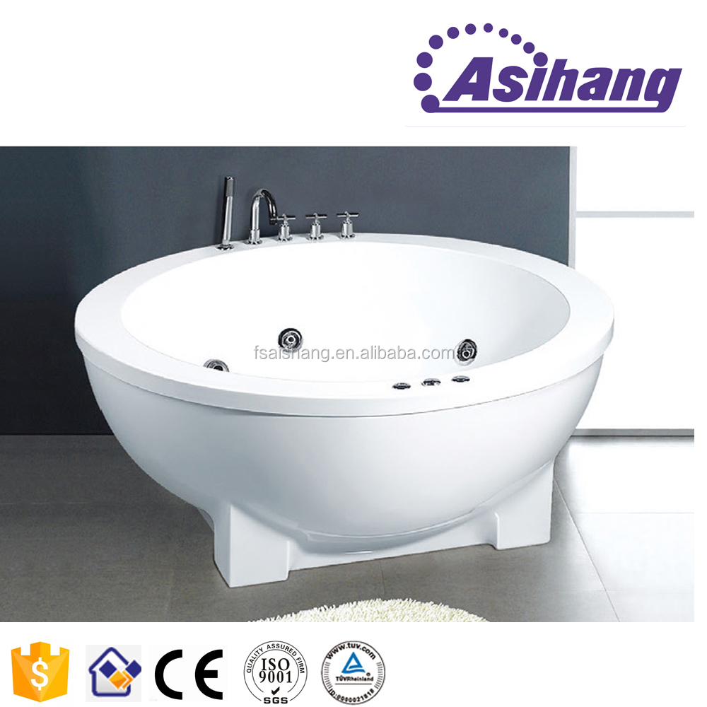 AS32175 new design double whirlpool bathtub for fat people