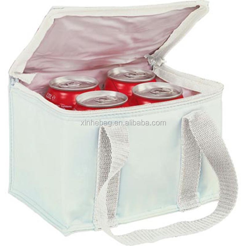 polyester insulated 6 pack can cooler thermal bags